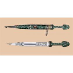 Кинжал Кавказский, сувенирный (зеленый)