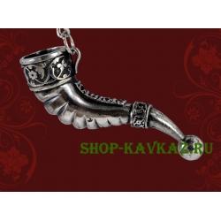Рог - брелок из бронзы