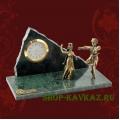 Часы: пара в танце 2. Натуральный камень и бронза