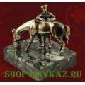 Горец и лошадь - статуэтка из бронзы